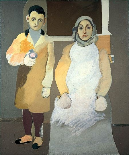 Artist Arshile Gorky-oil on canvas-The Artist and Mother